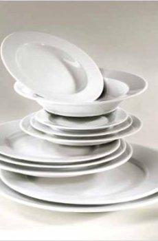 Assiette plate ronde blanche 25 cm