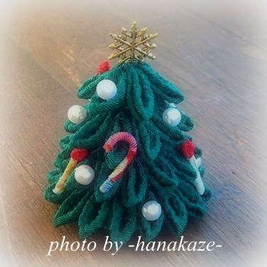 つまみ細工deクリスマスツリー-001
