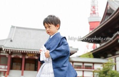 増上寺で七五三