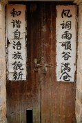 Black and White Couplet Door