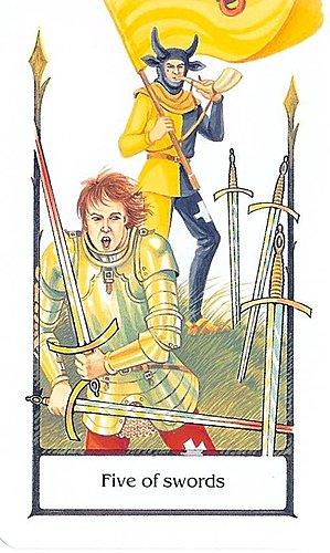 古徑塔羅小牌旅程之寶劍五