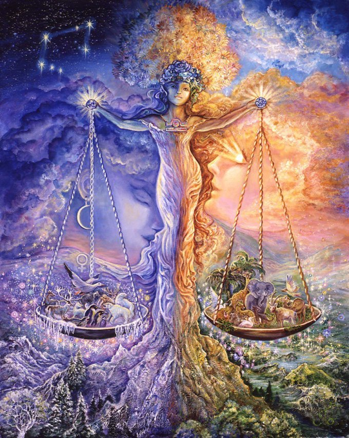 Libra, by Josephine Wall
