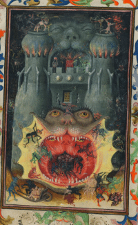 A Medieval Artist Depiction of Demonic Warfare