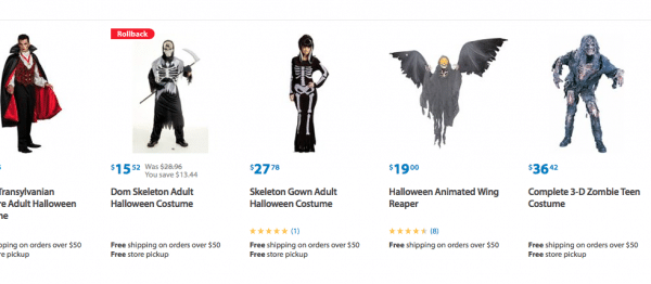Costumes from Walmart