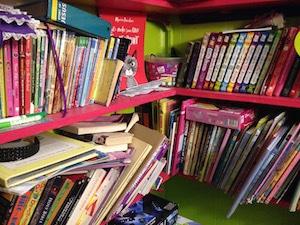 My kids' shelves