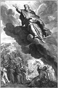 God taking Enoch.