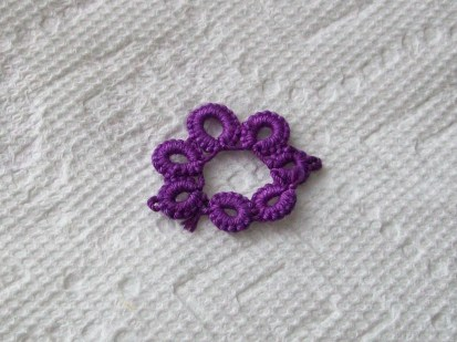 Tatting piece, after dyeing