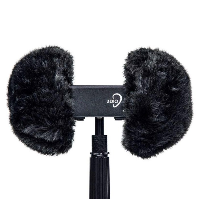 3DIO Wind Muffs on 3DIO FS microphone