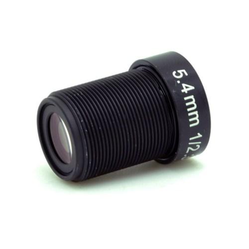 5.4mm 10MP 4K F2.5 M12 Lens 3/4 view