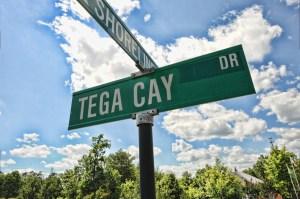 Tega Cay Street Sign