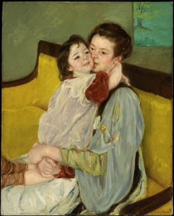 Caresse Maternelle - Painting by Mary Cassatt