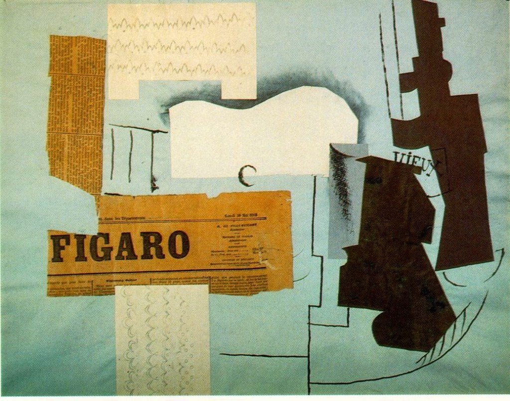 Collage by Picasso - 1913