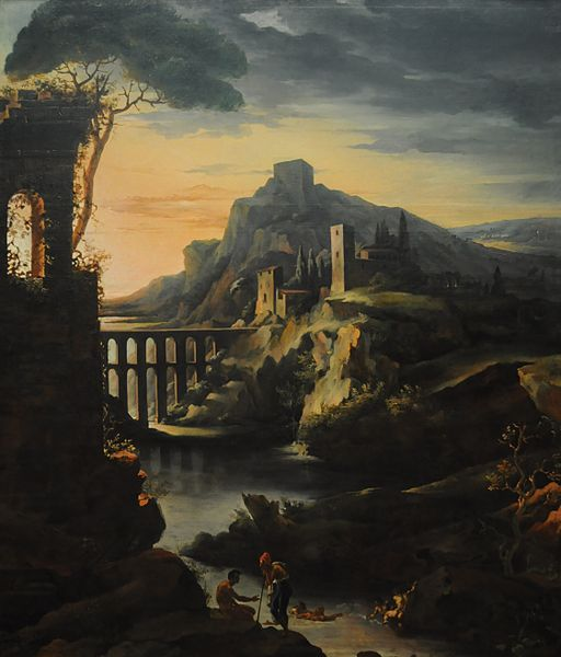 Theodore Gericault - Evening Landscape with an Aqueduct