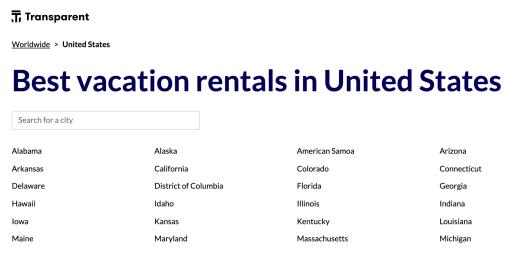 Best vacation rentals in United States