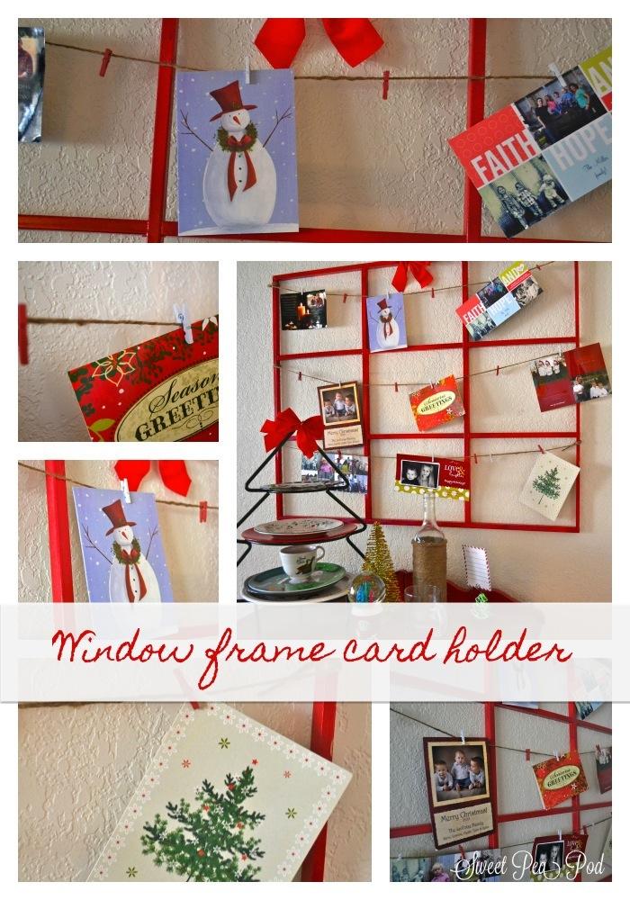 20 Crafty Days Of Christmas Window Frame Holiday Card