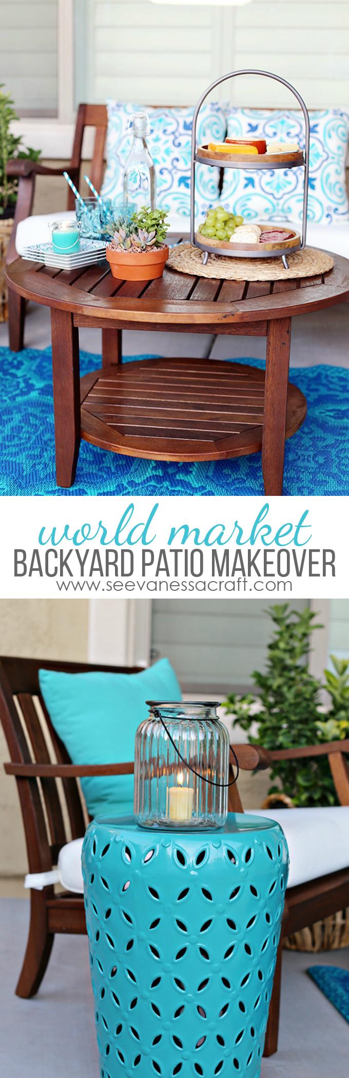 World Market Aqua Backyard Patio Makeover Ideas on Backyard Patio Makeover id=30660