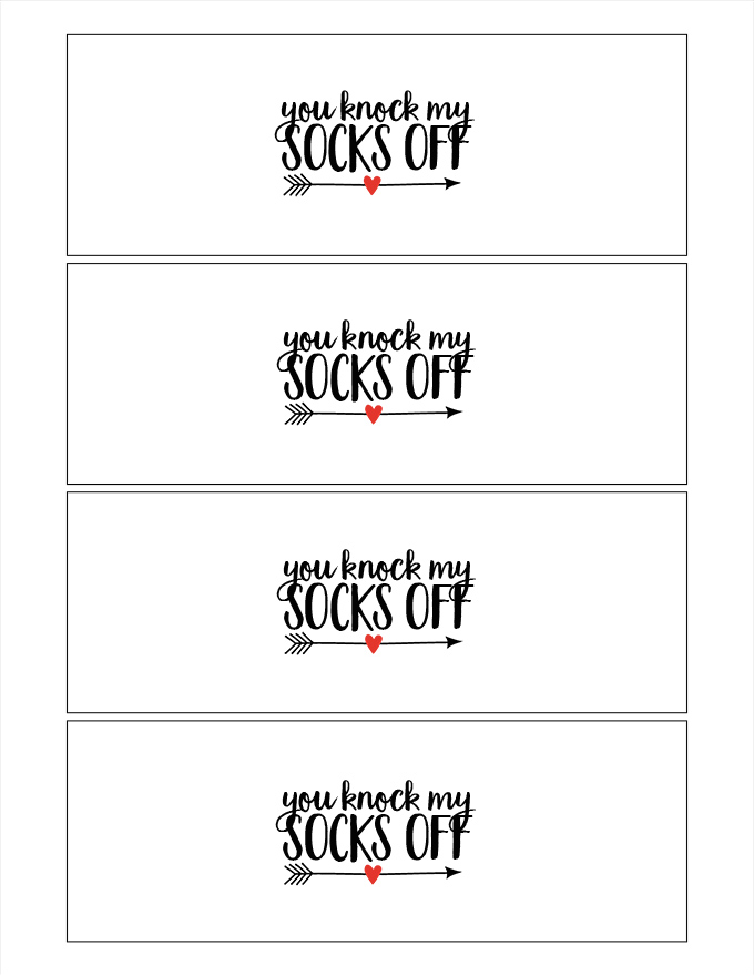 Valentines Day I Hygge You Printable Socks Gift See
