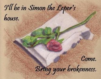 Broken rose Simon the Leper
