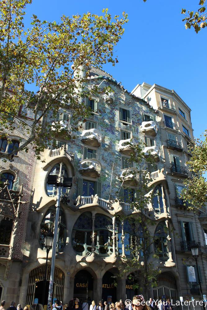facade casa batlló barcelone