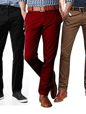 Men's classy khaki trousers-Black|Maroon|Brown.