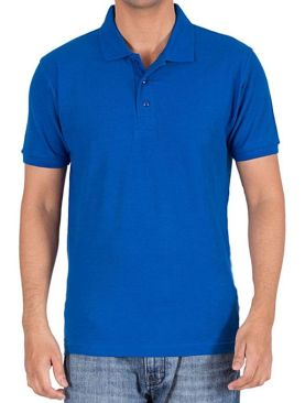 Men's short sleeved polo t shirt-Royal Blue.