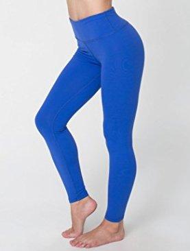 Women's high waist leggings-Royal Blue.