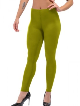 Women's cotton legging-Army Green.