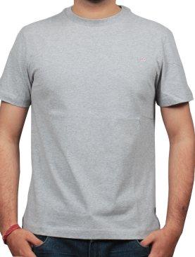 Plain round-neck tshirt-Grey