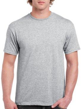 Men's short sleeved round neck t shirt-Grey