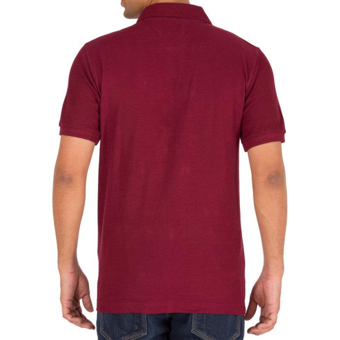 6d282100 Men's plain polo t shirt-Maroon. | Sefbuy