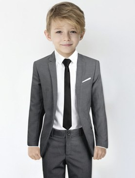 Kids designer suits-Grey.