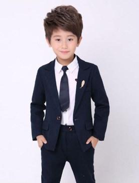 Kids designer suits-Navy Blue.