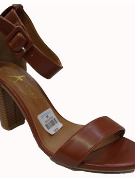 Women's stylish high heel shoes with back zipper-Brown.