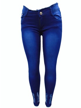 Women's denim jeans-Navy Blue.