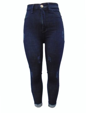 Women's denim pants-Blue.