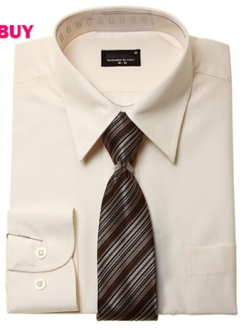Men's formal shirts-Cream.