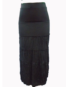 Women's panel design Caribbean skirts-Black