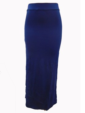 Women's plain long skirts-Navy Blue.