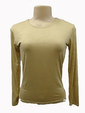 Women's long sleeved camisoles-Brown.