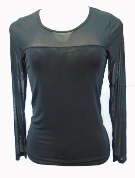 Women's long sleeved camisoles-Black.