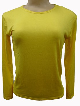 Women's long sleeved camisoles-Yellow.