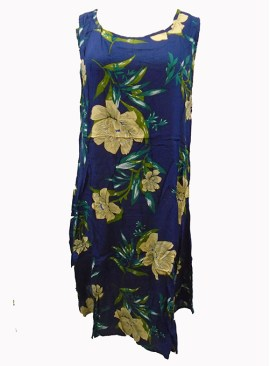Women's floral free wear maternity dress-Navy Blue.
