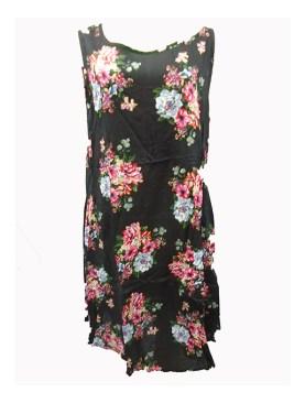 Women's floral free wear maternity dress-Black.
