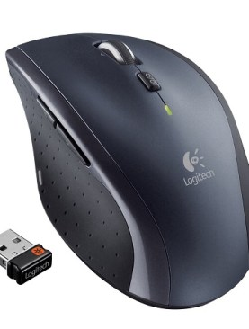 Wireless optical mouse with nano receiver-Black