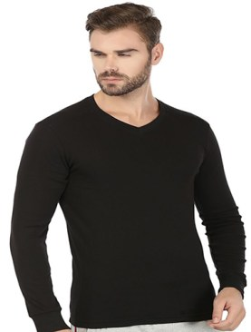 Men's long sleeved undershirt-Black.