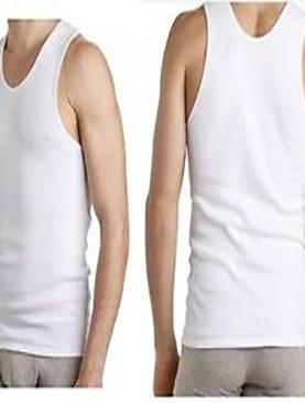 Men's pure cotton vests-White.