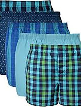 5 Pack men's boxers-Assorted colors.
