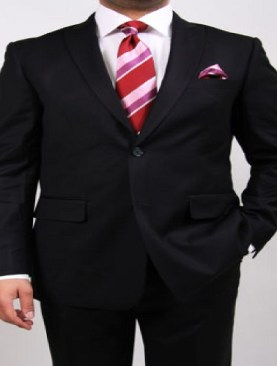 Men's royale two button suits-Black.