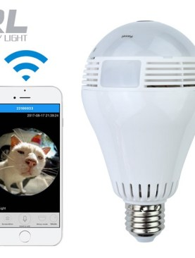 Wi-Fi Led bulb with smart surveillance camera.