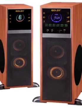 Goldy high definition speakers with blue tooth,nfc,radio,aux